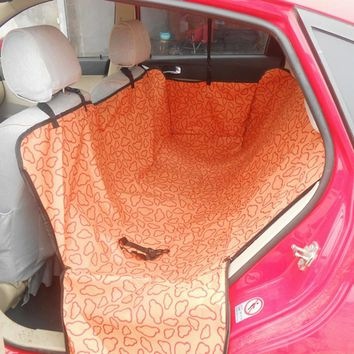 Waterproof Two Seats Pet Carrier Pet Dog Cat Car Rear Seat Cover Mat Back Seat Hanging Blanket Protective Anti-dust Seat Cushion