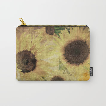 Wallflowers Carry-All Pouch by Theresa Campbell D'August Art