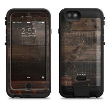The Dark Wooden Worn Planks  iPhone 6/6s Plus LifeProof Fre POWER Case Skin Kit