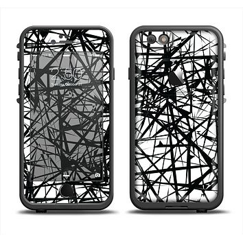 The Black and White Shards Apple iPhone 6/6s Plus LifeProof Fre Case Skin Set