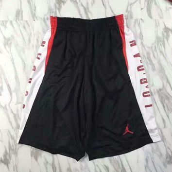 Jordan print splicing shorts sports pants G-YF-MLBKS