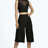 Molly Textured Creped Culottes