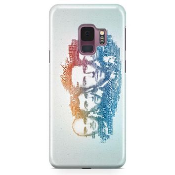Coldplay Faces Lyrics Design Samsung Galaxy S9 Plus Case | Casefantasy