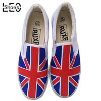 Children Baby Union Jack Painted Sports Shoes British Flag Shoes Boys Girls Student Canvas Sneaker Breathable Flats Sneakers