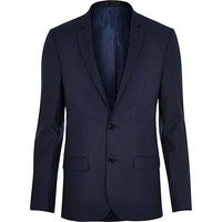 River Island MensBlue tailored skinny suit jacket