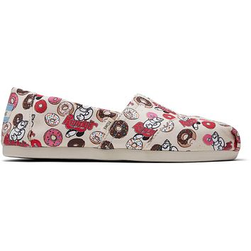 TOMS - Venice Collection Natural Randys Donut Print Women's Classics ft. Ortholite Slip-Ons