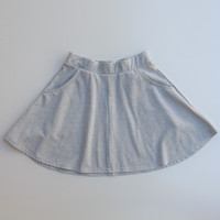 Cotton On Cotton Knit Circle Mini Skirt with Pockets S