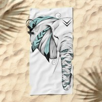 Poetic Elephant Beach Towel by LouJah