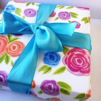 Water color floral gift wrap wrapping paper sheets