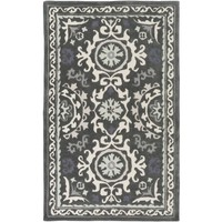 Anna Medallion Dark Grey Rug