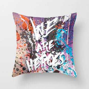 Hero Sessions I Throw Pillow by HappyMelvin