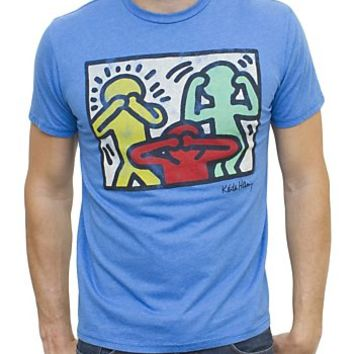Keith Haring See No Evil Vintage Inspired Heather Tee - Men's Tops - Short Sleeve - Junk Food Clothing