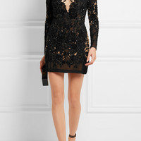 Zuhair Murad - Embellished organza mini dress