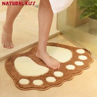 Summer promotion 5 colors Cute Footprints Big Feet Bath Mats Pads Cartoon Style Toilet Non-slip Rug for Bathroom Carpet floor