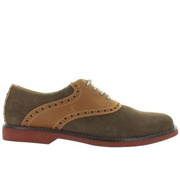 ONETOW Bass Parker - Olive Suede/Tan Leather Saddle Shoe