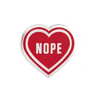 Nope Heart Pin