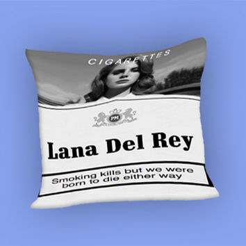cigarettes lana del rey black n white for Pillow Case, Pillow Cover, Custom Pillow Case **