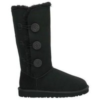 Black 1873 Women's UGG Bailey Button Triplet Outlet UK