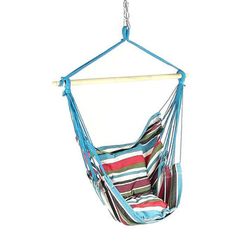 Beach Breeze Cushioned Hanging Hammock Chair