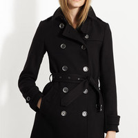 Burberry Brit 'Balmoral' Wool Blend Trench Coat | Nordstrom
