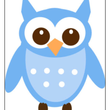 Instant Download, Owl Cross Stitch, PDF Pattern, Cross Stitch Pattern, Blue Owl, Owl Pattern