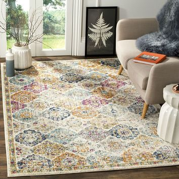 8 x 10 Ft Area Rug With Multi-Color Bohemian Pattern