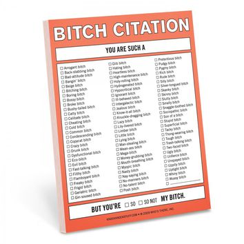 Bitch Citation Nifty Notepad