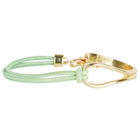 Metal/Rope Stretch Bracelet - Mint