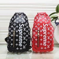 Louis Vuitton x Supreme Women's Stylish High-Quality Fashion Backpack F