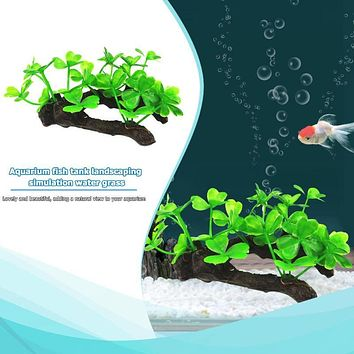 Artificial Aquarium Plants Fish Tank Decoration Green Grass Ornament for Aquarium Tank Simulation Plants