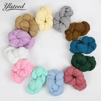 40*140CM Knit Stretch Newborn Photography Wraps Swaddle Newborn Photo Props Baby Photography Blankets Gauze Wraps for Photoshoot