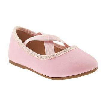 Old Navy Cross Strap Ballet Flat For Baby