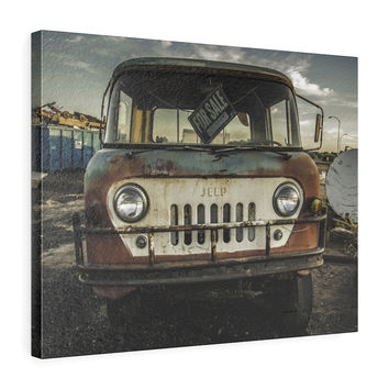 It's A Jeep Thing Horizontal Leather Gallery Wrap