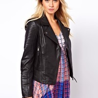 Oasis Quilted Leather Jacket