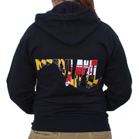 Maryland in Maryland in Maryland (Black) / Hoodie