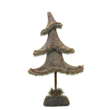 "23.5"" Glittered Country Rustic Tree Christmas Tabletop Decoration"