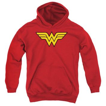 Wonder Woman Logo Youth Pull Over Hoodie