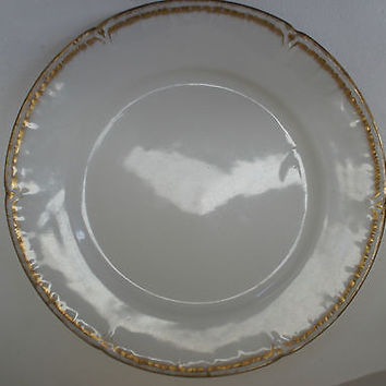 VINTAGE CH Field Haviland Limoges Plate Red Mark with 22k Gold, 1900'S