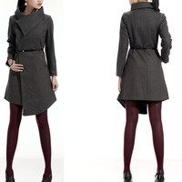 big collar wool coat FM011 by FM908 on Etsy