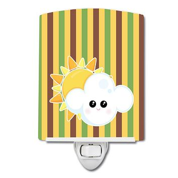 Weather Partly Cloudy Face Ceramic Night Light BB7152CNL