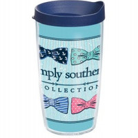 Simply Southern Multi Bow Tie - 16 oz Tervis Tumbler with lid