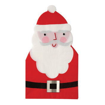 Cut-Out Santa Guest Napkins