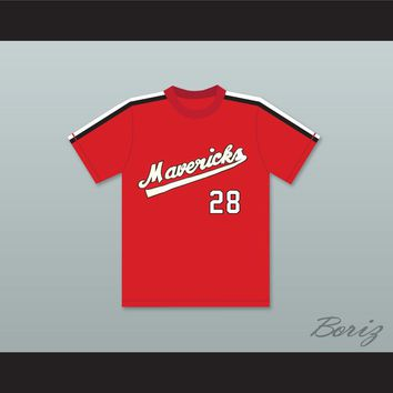 Kurt Russell 28 Portland Mavericks Baseball Jersey The Battered Bastards of Baseball
