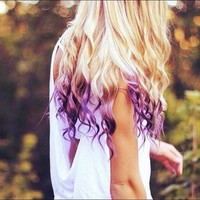 Blonde Violet Hair Extensions//Violet Purple Ombre//Purple DipDye