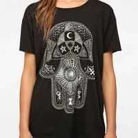 Truly Madly Deeply Palm Of Darkness Tee- Black M