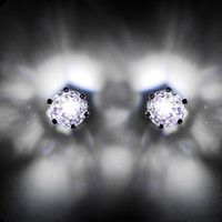 5mm Clear Light-Up LED CZ Stud Earrings | Body Candy Body Jewelry