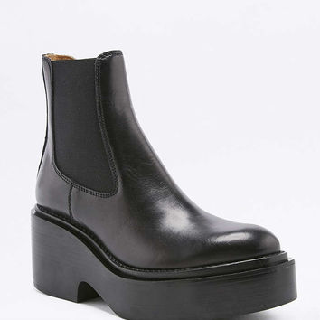 MM6 Calfskin Leather Platform Ankle Boots - Urban Outfitters