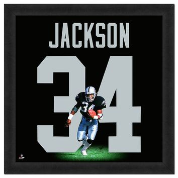 Los Angeles Raiders Bo Jackson Framed Jersey Photo (Oak Team)
