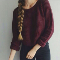 Long Sleeve Knit Sweater B0014453