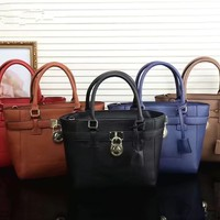 """Michael Kors"" Fashion Simple Single Shoulder Messenger Bag Women MK Padlock Temperament Tote Handbag"